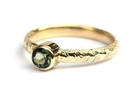 Groene toermalijn ring