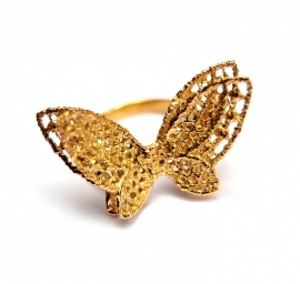 Fairtrade gold butterfly ring