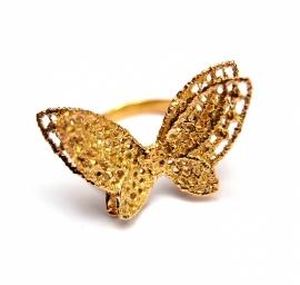 Fairtrade gouden vlinderring