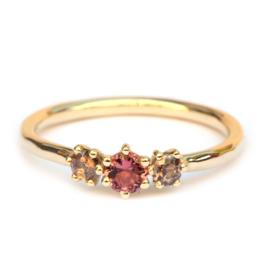 Cleo ring met roze toermalijn