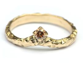 Chevron ring met chocodiamant