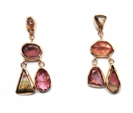 Fairtrade gold chandelier earrings