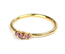 Ring met paarse diamantjes