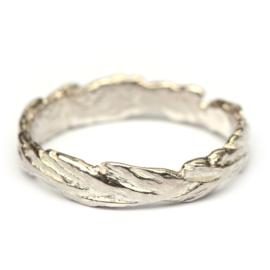Zilveren grashalm ring