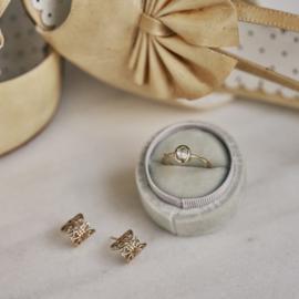 Gouden kanten oorstekers