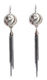 Oorhangers zilveren paardjes