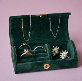 Velvet sieraden bewaardoosje