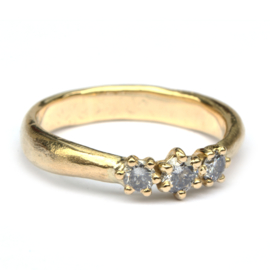 Viking trouwringenset met salt & pepper diamanten