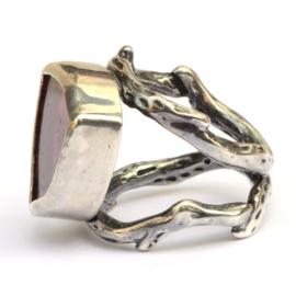 Grote ring met toermalijnplak