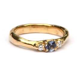Robuuste ring met spinel en diamant