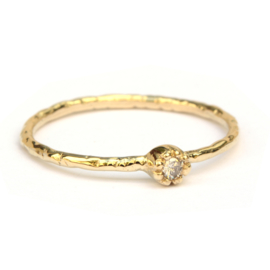 Fijne Naoki ring met antieke diamant