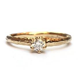 Forest ring met diamant
