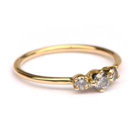 Ring met salt and pepper diamanten