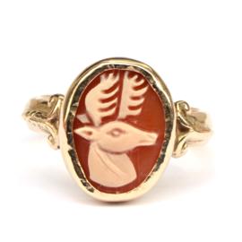 Ring met hertcamee GERESERVEERD
