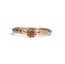White gold ring with cognac diamond  RESERVED