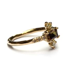Princess ring met andalusiet en diamant