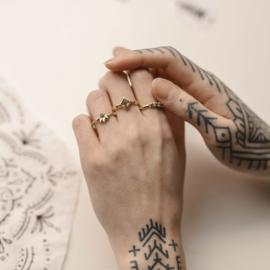 Ring Gaia met paarse diamant