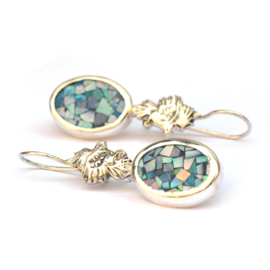 Oorhangers mozaïek opaal