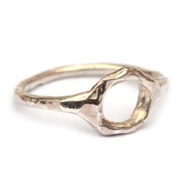Opengewerkte zilveren ring