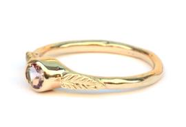 Ring met multi color toermalijn