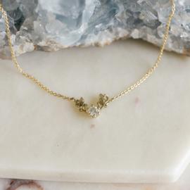 Collier Olivia met salt & pepper diamant