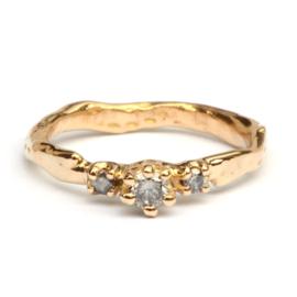 Ring Loulou met salt & pepper diamanten