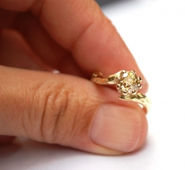 Verlovingsring met antieke diamant