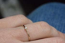Fijne diamant ring