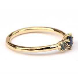 Cleo ring met saffieren