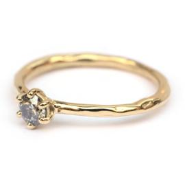 Salt & Pepper Diamant ring