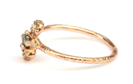 Bindi ring met salt & pepper diamanten