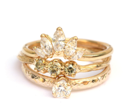 Ring met 5 marquise diamanten