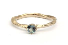 Ring met mintgroene toermalijn