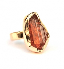 Gold ring with imperial topaz