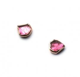 Roze toermalijn oorstekers