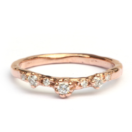 Ring Fela in roodgoud met diamantjes