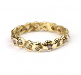 Alliance ring met roosdiamantjes