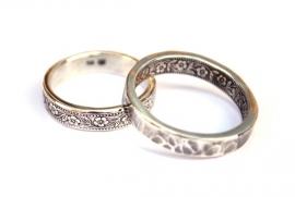 Zilveren ringen voor Boukje en Chris