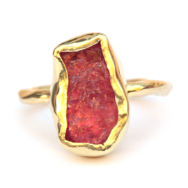 Ring with rough tourmaline