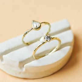 Ring met grijze diamant