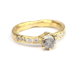 Ring met galaxy diamant