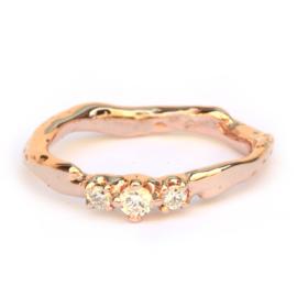 Ring Umiko met witte diamanten