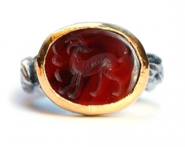 Ring met antieke intaglio