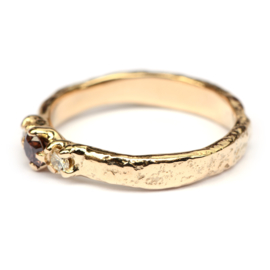 Elfie ring met choco diamant