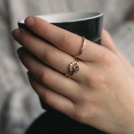 Ring met ruwe diamant
