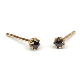 Fijne Naoki oorstekers met diamant