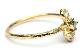 Bindi ring met groene diamant