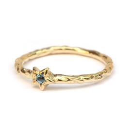 Maia ring met aquamarijn