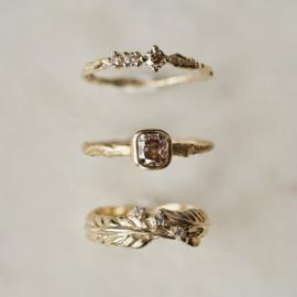 Feeny ring met bruine diamanten