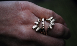 Ornamental gold ring